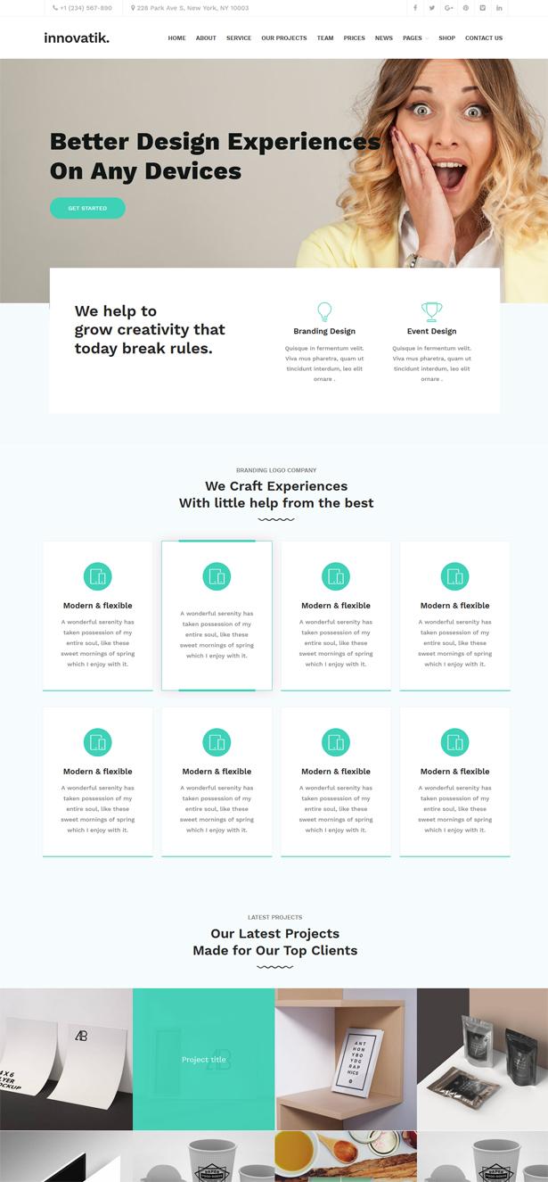 Innovatik - Corporate WordPress Theme | Creative WP | Business WP - 2