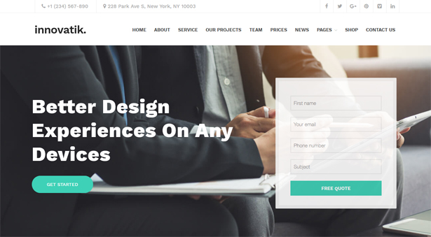 Innovatik - Corporate WordPress Theme | Creative WP | Business WP - 4